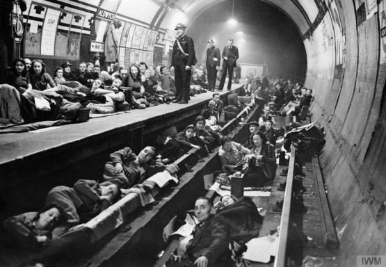 Seventy nine tube stations were used as air raid shelters by Londoners, but they were not proof against a direct hit. © IWM (HU 44272)
