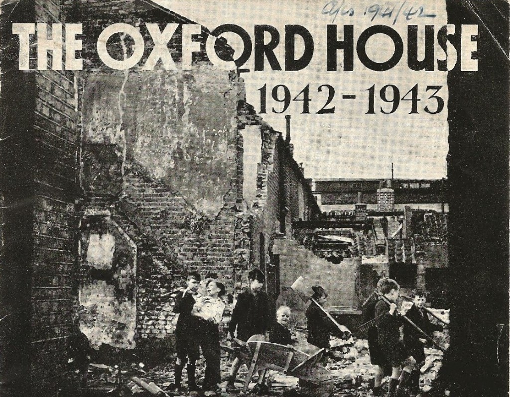 One of the bombed sites in Bethnal Green