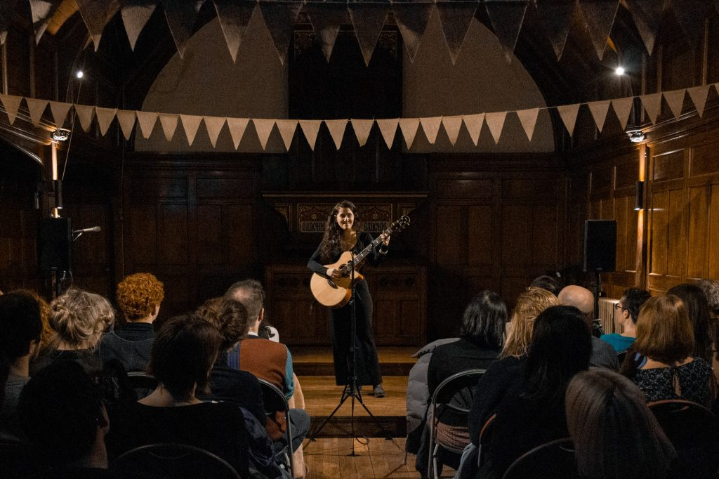 What's on at Oxford House - Musican Mayari Cepeda for the Eavesdropping series in the Chapel